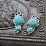 Kanika-Jewelry-Trove-925-Sterling-Silver-Turquoise-Dangle-Earrings-for-Women-2-Tier-Earrings-for-Women-B07K1K8NS4-2