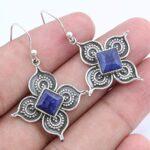 Kanika-Jewelry-Trove-Blue-Sapphire-925-Sterling-Silver-Flower-Earrings-for-Women-Gift-B07K1CK6C3