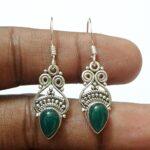 Kanika-Jewelry-Trove-Green-Onyx-925-Sterling-Silver-Vintage-Earrings-Onyx-Earrings-B07K1CZP7T