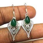 Kanika-Jewelry-Trove-Green-Onyx-Gemstone-Silver-925-Dangle-Earrings-B07JZWDXV5