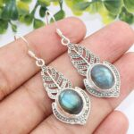 Kanika-Jewelry-Trove-Natural-Labradorite-Gemstone-925-Sterling-Silver-Earrings-B07K19251B