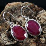 Kanika-Jewelry-Trove-Oval-Drop-Ruby-Gemstone-Solid-925-Sterling-Silver-Earrings-B07K1GPXDS