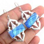 Kanika-Jewelry-Trove-Picture-Jasper-925-Sterling-Silver-Earrings-Labradorite-Earrings-Statement-Earrings-Turquoise-Ea-B07JZ72QMS