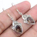 Kanika-Jewelry-Trove-Smoky-Quartz-925-Sterling-Silver-Vintage-Earrings-B07K1BRC3V