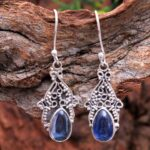 Kyanite-Gemstone-Sterling-Silver-Boho-Drop-Earrings-for-Women-and-Girls-Bezel-Set-Ear-Wire-Earrings-Blue-Bridesmaid-Ea-B08K61RHJ4-2
