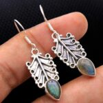 Labradorite-Gemstone-Sterling-Silver-Dangle-Earrings-for-Women-and-Girls-Bezel-Set-Ear-Wire-Earrings-Blue-Bridesmaid-E-B08K613CJC