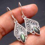 Labradorite-Gemstone-Sterling-Silver-Drop-Earrings-for-Women-and-Girls-Bezel-Set-Ear-Wire-Earrings-Green-Bridesmaid-Ea-B08K63WQ45