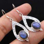 Labradorite-Gemstone-Sterling-Silver-Hammered-Drop-Earrings-for-Women-and-Girls-Bezel-Set-Ear-Wire-Earrings-Blue-Bride-B08K5ZXM45