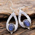 Labradorite-Gemstone-Sterling-Silver-Hammered-Drop-Earrings-for-Women-and-Girls-Bezel-Set-Ear-Wire-Earrings-Blue-Bride-B08K5ZXM45-2