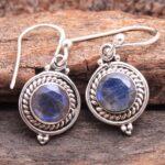 Labradorite-Gemstone-Sterling-Silver-Small-Dangle-Earrings-for-Women-and-Girls-Bezel-Set-Ear-Wire-Earrings-Blue-Brides-B08K63YTLL-2