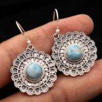 Larimar-Gemstone-Sterling-Silver-Designer-Dangle-Earrings-for-Women-and-Girls-Bezel-Set-Ear-Wire-Earrings-Blue-Bridesm-B08K624XPL-2