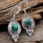 Malachite-Gemstone-Sterling-Silver-Boho-Dangle-Earrings-for-Women-and-Girls-Bezel-Set-Ear-Wire-Earrings-Green-Bridesma-B08K5ZTYQV-2