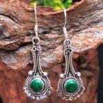 Malachite-Gemstone-Sterling-Silver-Drop-Earrings-for-Women-and-Girls-Bezel-Set-Ear-Wire-Earrings-Green-Bridesmaid-Earr-B08K5YD1H7-2