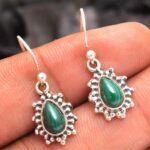 Malachite-Gemstone-Sterling-Silver-Drop-Earrings-for-Women-and-Girls-Bezel-Set-Ear-Wire-Earrings-Green-Bridesmaid-Earr-B08K61CSGV-2