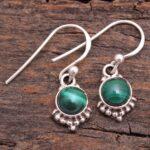Malachite-Gemstone-Sterling-Silver-Small-Dangle-Earrings-for-Women-and-Girls-Bezel-Set-Ear-Wire-Earrings-Green-Bridesm-B08K61T6DV-2