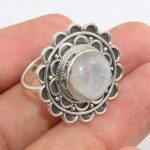 Moonstone-Gemstone-925-Sterling-Silver-Rings-Handmade-Jewelry-B07L2VMWXJ