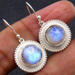 Moonstone-Gemstone-Sterling-Silver-Dangle-Earrings-for-Women-and-Girls-Bezel-Set-Ear-Wire-Earrings-White-Bridesmaid-Ea-B08K61BQ6V-2