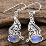 Moonstone-Gemstone-Sterling-Silver-Dangle-Earrings-for-Women-and-Girls-Bezel-Set-Ear-Wire-Earrings-White-Bridesmaid-Ea-B08K65BJW6