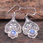 Moonstone-Gemstone-Sterling-Silver-Designer-Dangle-Earrings-for-Women-and-Girls-Bezel-Set-Ear-Wire-Earrings-White-Brid-B08K5ZYWZ4-2