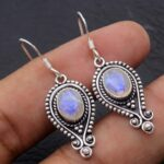 Moonstone-Gemstone-Sterling-Silver-Drop-Earrings-for-Women-and-Girls-Bezel-Set-Ear-Wire-Earrings-White-Bridesmaid-Earr-B08K5YG37V-2