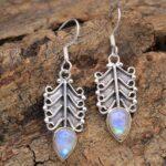 Moonstone-Gemstone-Sterling-Silver-Drop-Earrings-for-Women-and-Girls-Bezel-Set-Ear-Wire-Earrings-White-Bridesmaid-Earr-B08K5YP442-2