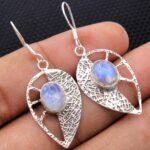 Moonstone-Gemstone-Sterling-Silver-Drop-Earrings-for-Women-and-Girls-Bezel-Set-Ear-Wire-Earrings-White-Bridesmaid-Earr-B08K5YRHYR