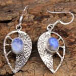 Moonstone-Gemstone-Sterling-Silver-Drop-Earrings-for-Women-and-Girls-Bezel-Set-Ear-Wire-Earrings-White-Bridesmaid-Earr-B08K5YRHYR-2