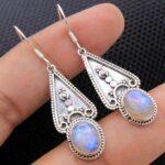 Moonstone-Gemstone-Sterling-Silver-Drop-Earrings-for-Women-and-Girls-Bezel-Set-Ear-Wire-Earrings-White-Bridesmaid-Earr-B08K5Z8Q1M-2