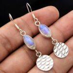 Moonstone-Gemstone-Sterling-Silver-Drop-Earrings-for-Women-and-Girls-Bezel-Set-Ear-Wire-Earrings-White-Bridesmaid-Earr-B08K5ZVB4K-2