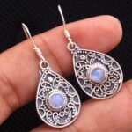 Moonstone-Gemstone-Sterling-Silver-Drop-Earrings-for-Women-and-Girls-Bezel-Set-Ear-Wire-Earrings-White-Bridesmaid-Earr-B08K62GRV7