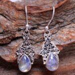 Moonstone-Gemstone-Sterling-Silver-Drop-Earrings-for-Women-and-Girls-Bezel-Set-Ear-Wire-Earrings-White-Bridesmaid-Earr-B08K62JV6B-2