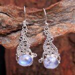 Moonstone-Gemstone-Sterling-Silver-Drop-Earrings-for-Women-and-Girls-Bezel-Set-Ear-Wire-Earrings-White-Bridesmaid-Earr-B08K62QTB5