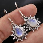 Moonstone-Gemstone-Sterling-Silver-Drop-Earrings-for-Women-and-Girls-Bezel-Set-Ear-Wire-Earrings-White-Bridesmaid-Earr-B08K63KFW1