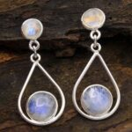 Moonstone-Gemstone-Sterling-Silver-Drop-Earrings-for-Women-and-Girls-Bezel-Set-Pushback-Earrings-White-Bridesmaid-Earr-B08K62YPV1