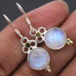 Moonstone-Gemstone-Sterling-Silver-Small-Drop-Earrings-for-Women-and-Girls-Bezel-Set-Ear-Wire-Earrings-White-Bridesmai-B08K639313