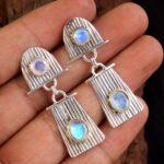 Moonstone-Gemstone-Sterling-Silver-Textured-Dangle-Earrings-for-Women-and-Girls-Bezel-Set-Pushback-Earrings-White-Brid-B08K62V2K9-2