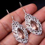 Morganite-Gemstone-Sterling-Silver-Drop-Earrings-for-Women-and-Girls-Bezel-Set-Ear-Wire-Earrings-Peach-Bridesmaid-Earr-B08K61YSZZ-2