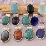 Multi-Gemstone-Pendant-925-Sterling-Silver-Pendants-for-Womens-Oval-Gemstone-Pendants-Handmade-Pendants-B07V82J744