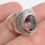 Mystic-Quartz-Gemstone-925-Sterling-Silver-Rings-Handmade-Jewelry-B07L2T1694
