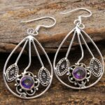 Mystic-Topaz-Gemstone-Sterling-Silver-Drop-Earrings-for-Women-and-Girls-Bezel-Set-Ear-Wire-Earrings-Multi-Colour-Bride-B08K5ZQK4H-2