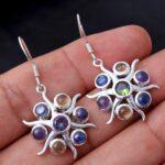 Mystic-Topaz-Gemstone-Sterling-Silver-Multistone-Dangle-Earrings-for-Women-and-Girls-Bezel-Set-Ear-Wire-Earrings-Multi-B08K5YLTCS