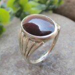 Natural-Garnet-Sterling-Silver-Ring-Gemstone-Handmade-Jewelry-B07L2V4T4M