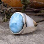 Natural-Larimar-mens-Ring-925-Solid-Sterling-Silver-Ring-mens-ring-mens-Gemstone-Ring-Larimar-ring-signet-rings-B07T7YTT33