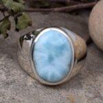 Natural-Larimar-mens-Ring-925-Solid-Sterling-Silver-Ring-mens-ring-mens-Gemstone-Ring-Larimar-ring-signet-rings-B07T7YTT33-5
