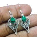 Natural-Malachite-Gemstone-925-Silver-Earrings-B07JW32BZC