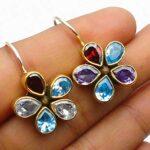 Natural-Pear-blue-topaz-Gemstone-Sterling-Silver-Floral-Drop-Earrings-for-Women-Bezel-Set-Ear-Wire-Earrings-blue-Bride-B08HLYGF3K