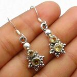 Natural-Round-citrine-Gemstone-Sterling-Silver-Drop-Earrings-for-Women-Bezel-Set-Ear-Wire-Earrings-Yellow-Bridesmaid-E-B08HHZRQZG