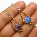 Opalite-Gemstone-Sterling-Silver-Drop-Earrings-for-Women-and-Girls-Bezel-Set-Ear-Wire-Earrings-Blue-Bridesmaid-Earring-B08K64247M