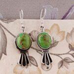 Oval-Green-Turquoise-Earrings-Dangle-Earrings-Drop-Earrings-Sterling-Silver-Earrings-for-Christmas-B07S35G2ZK