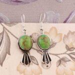 Oval-Green-Turquoise-Earrings-Dangle-Earrings-Drop-Earrings-Sterling-Silver-Earrings-for-Christmas-B07S35G2ZK-2